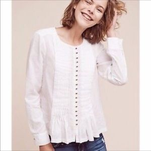 Anthropologie Maeve Blouse Gelise Button Down